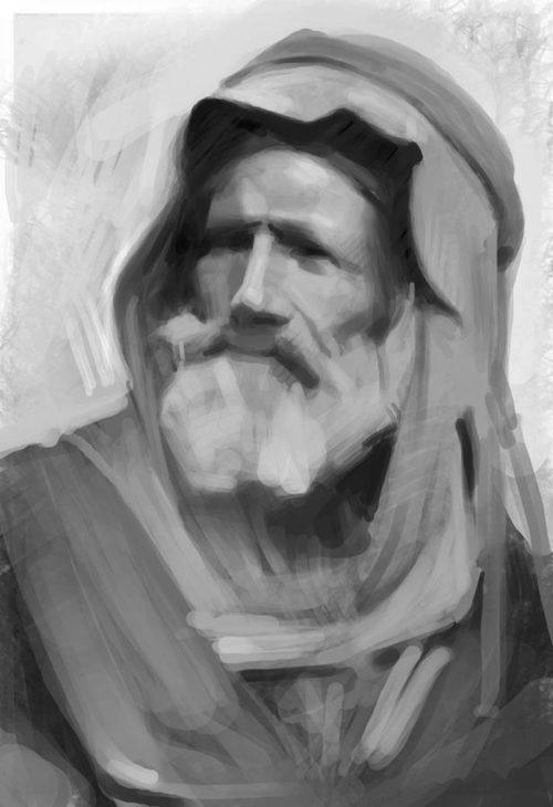 Boceto de hombre árabe
