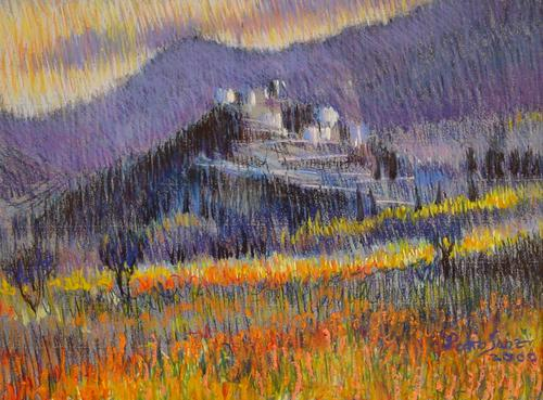 Pueblo en la colina