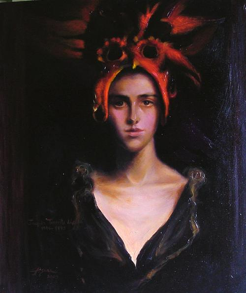 Mujer con máscara roja  /  Homenaje a Torrents Lladó