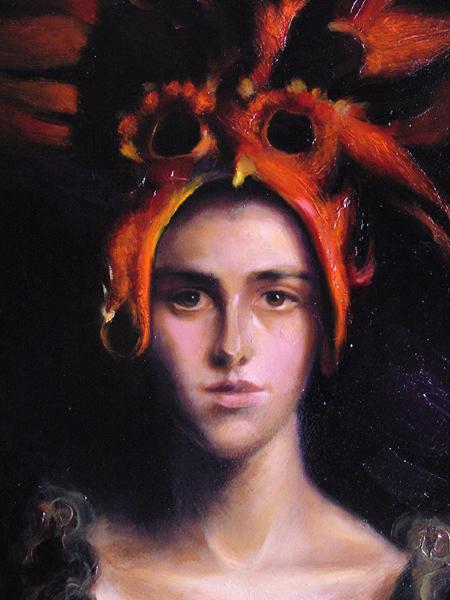 Mujer con máscara roja (detalle) /  Homenaje a Torrents Lladó
